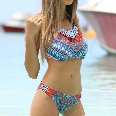 Fashion Sexy Printing Bikini Swimwear Suit