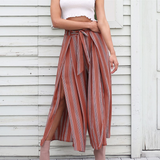 Design High Waist Striped Women'S Pants