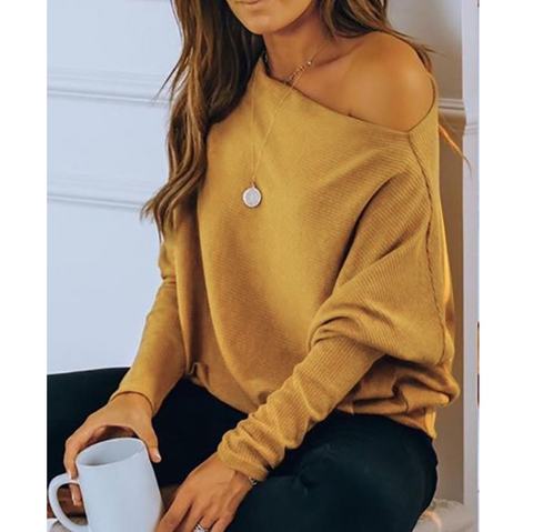 Casual Long-Sleeved Knitted Sweater