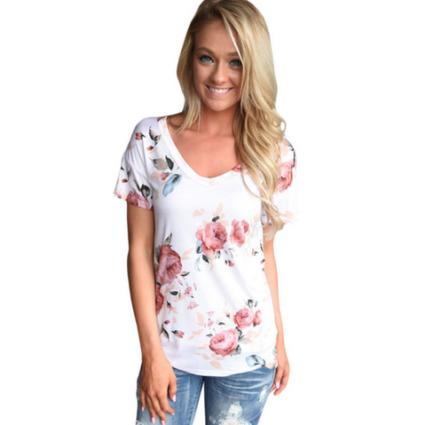 Fashion Printing Short Sleeve T-Shirt