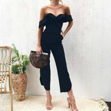 Women Sexy Wrapped Chest Backless Jumpsuit
