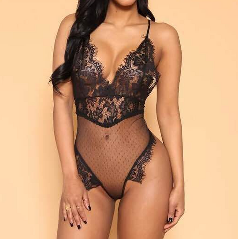 Sling Lace Sexy Jumpsuit Underwear