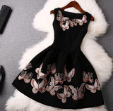 Butterfly Round neck sleeveless Dress