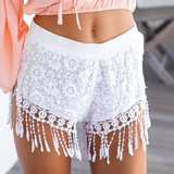 Women Sexy Lace Mini Shorts