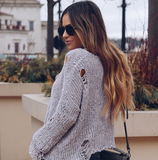 Long Sleeve Knitting Round Neck Sweater