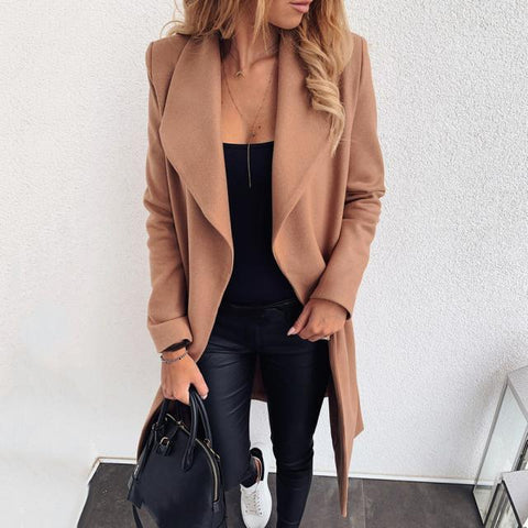 Pure Color Casual Fashion Long Sleeve Jacket