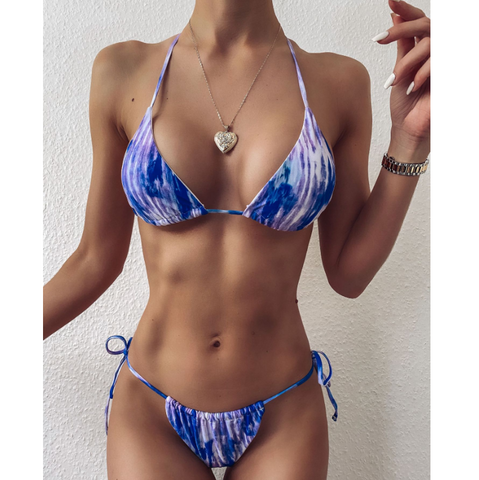 Split Fashion Bikini Two-Piece Set