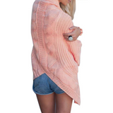 Fashion Women'S Solid Color Knit Cardigan Sweater Coat