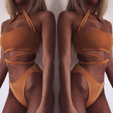 Sexy bandage two-piece swimsuit