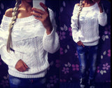 Sweet long-sleeved knit sweater