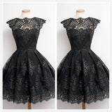 Retro Short sleeve Lace Dress