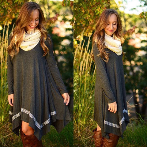 Sweet long-sleeved dress