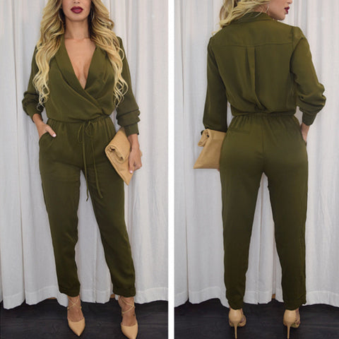 Sexy V-neck high waist jumpsuit