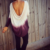 Loose round neck long-sleeved T-Shirts