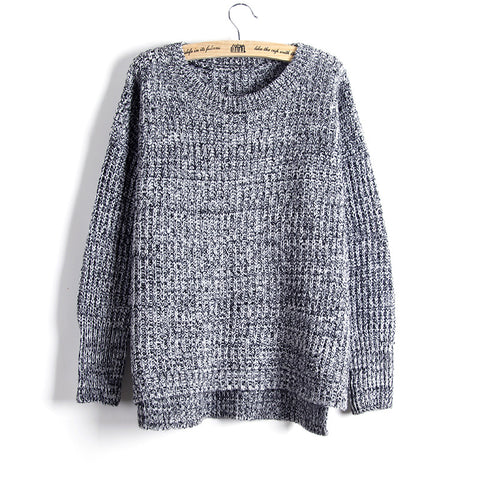 Women'S Loose Round Neck Knitted Sweater