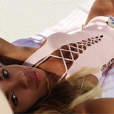 Fashion solid color swimsuit
