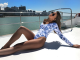 Printed Sexy Long-Sleeved Swimwear Swimsuit