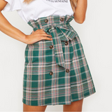 Fashion Green Plaid Skirts