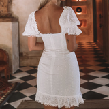 White Sexy Women Backless Princess Dress