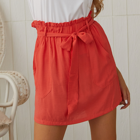 Solid Color Women'S Skirt