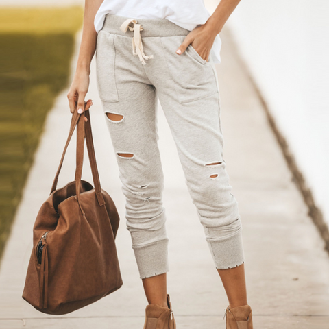 Women'S Ripped Casual Pants