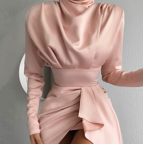 Irregular Sexy Women'S High-Necked Dress
