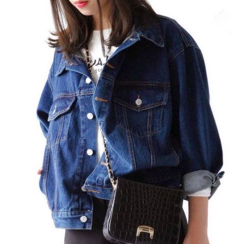 Loose Long-Sleeved Denim Jacket