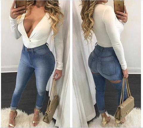 SEXY HOLE JEANS