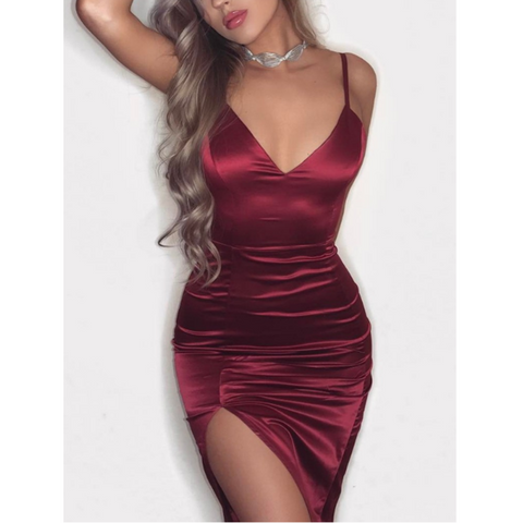 V-neck Women's Sexy Sling Dress