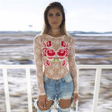 Round Neck Embroidery Long-Sleeved T-Shirt