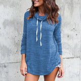 Casual Long-Sleeved High-Necked Sweater