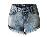 Irregular Denim High Waist Shorts