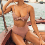 Sexy Stitching Two-Piece Swimsuit