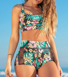 Sexy High Waist Printed Bikini Two-Piece Swimsuit