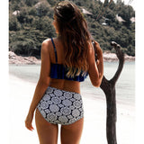 The new high waist swimsuit is sold directly in bikini lotus leaf swimsuit.