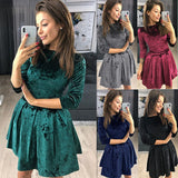 Women Fashion Round Neck Dress