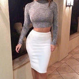 Elegant long-sleeved two-piece dress