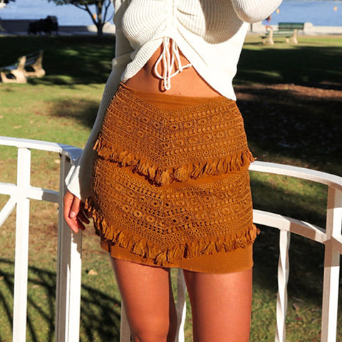 Solid Color Women'S Sexy Lace Skirt