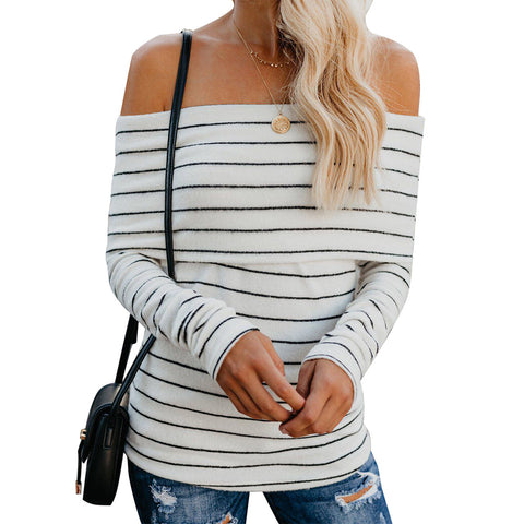 Women'S One-Shoulder Knitted Sweaters