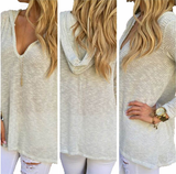 Sexy V-neck knit sweater