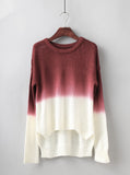Fashion long-sleeved knit sweater