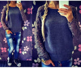 Hollow out Lace Knitted Sweater