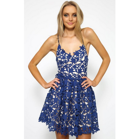 Sexy lace sling Halter dress
