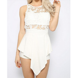 Slim sleeveless lace Jumpsuits