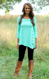 Loose round neck long-sleeved T-shirt
