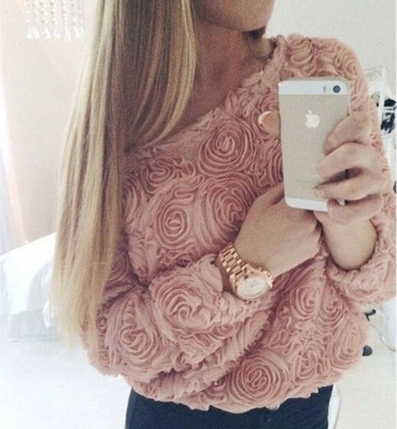 Rose -Sleeved T-Shirt