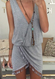 Sexy V-Neck Sleeveless Dress