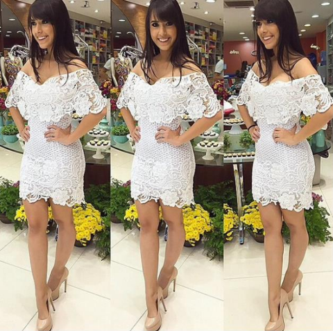 Slim Package Hip Lace Dress