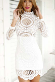 New Slim Lace Long-Sleeved Dress