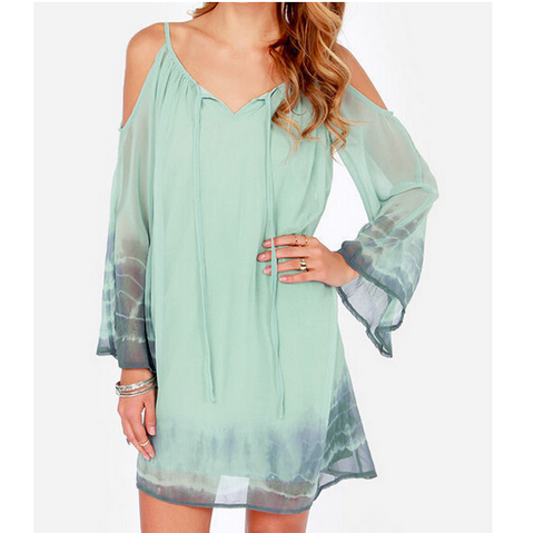 The New V-Neck Chiffon Dress